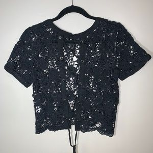 Charlotte Russe See-Through Lace with Lace-up Back
